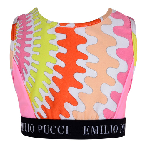 Emilio Pucci Girls Pink Pink Sports Top