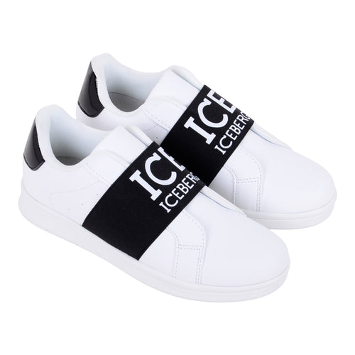 White ICE Logo Trainers
