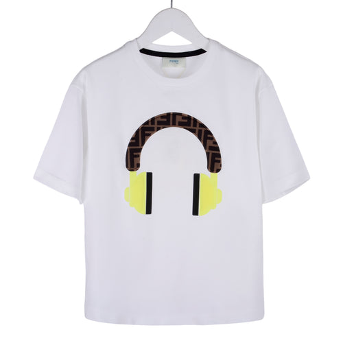 White FF Headphone T-Shirt