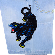 Load image into Gallery viewer, Sky Blue Denim Tiger Shorts