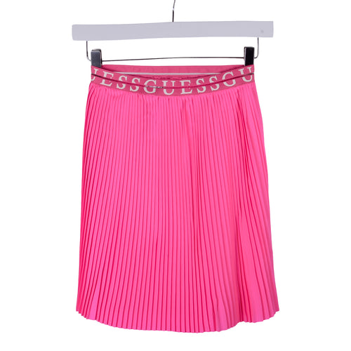 Pink Midi Pleated Skirt