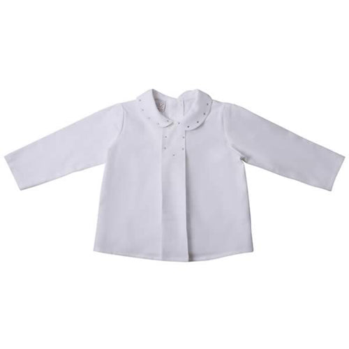 Boys Ivory Polka Dot Shirt