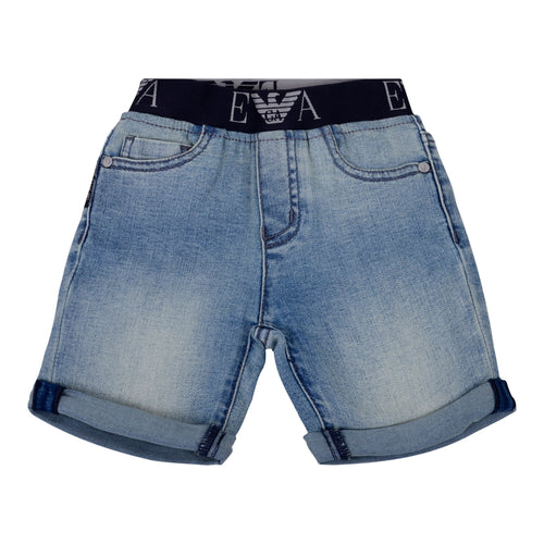 Light Denim Pull on Shorts