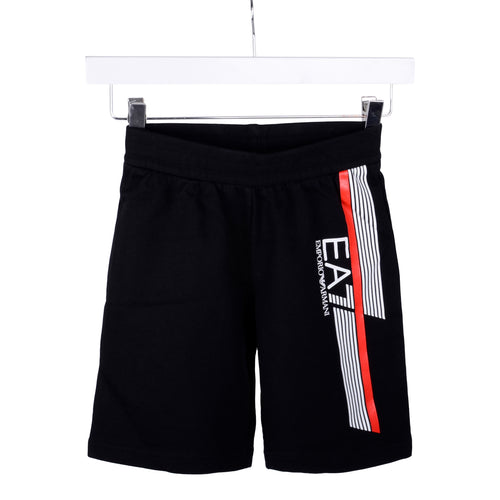Black Red Trim Sweat Shorts