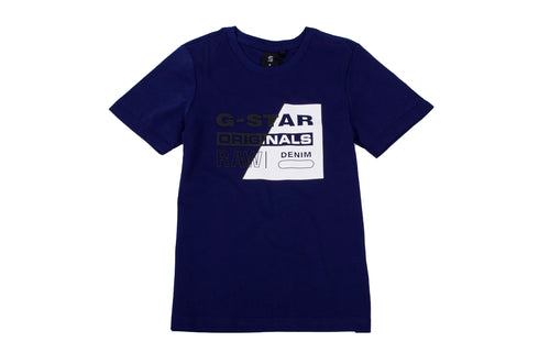 Blue & White Two Tone Logo T-Shirt