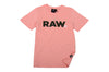 Girls Pink Raw T-Shirt