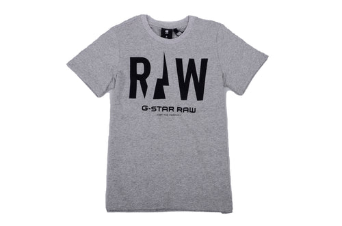 Grey & Black Raw T-Shirt