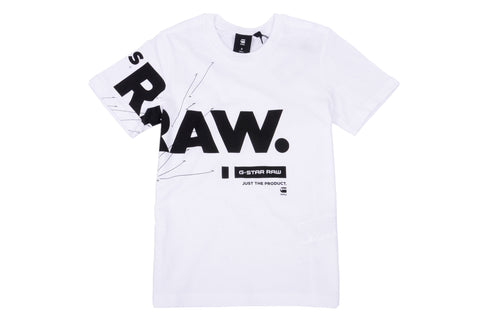 White & Black Raw T-Shirt