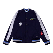 Load image into Gallery viewer, Lanvin Boys Sale Navy Applique Bomber Jacket