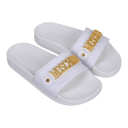 White & Gold Logo Sliders