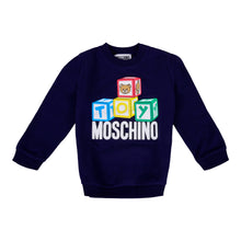 Load image into Gallery viewer, Navy Toy Block Sweat Top