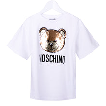 Load image into Gallery viewer, White Reversible Toy Sequin T-Shirt