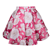 Load image into Gallery viewer, Pink & Ivory Roses Skirt