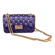 Load image into Gallery viewer, Navy & Gold Diamante Bag