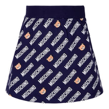 Load image into Gallery viewer, Navy Multi Logo Skirt