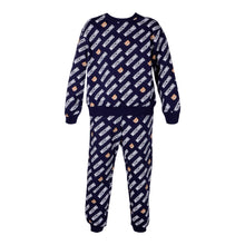Load image into Gallery viewer, Navy Multi Logo Tracksuit