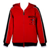 Red & Black Milano Zip Up