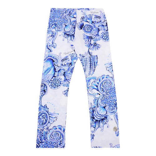 White & Blue Leggings