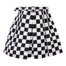 Load image into Gallery viewer, Beige & Black Check Skirt