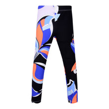 Load image into Gallery viewer, Orange, Blue & Black Pucci Leggings