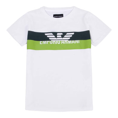 Emporio Armani Boys Sale White Two Tone T-Shirt