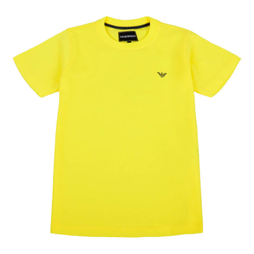 Emporio Armani Boys Sale Yellow Crew Neck T-Shirt