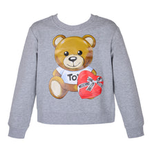 Load image into Gallery viewer, Grey Toy Heart Box Sweat Top