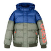Green & Blue Puffer Coat