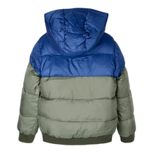 Load image into Gallery viewer, Green & Blue Puffer Coat