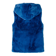Load image into Gallery viewer, Blue Faux Fur Gilet