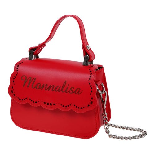 Monnalisa Girls Red Leather Bag