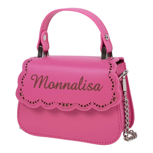 Monnalisa Girls Pink Leather Bag