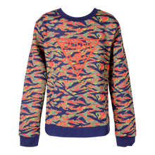 Load image into Gallery viewer, Red & Green Tiger-print Sweat Top