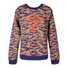 Red & Green Tiger-print Sweat Top