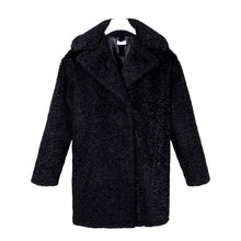 Load image into Gallery viewer, Black Soft Teddy Coat