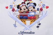 Load image into Gallery viewer, Ivory Minnie & Mickey Ski Top
