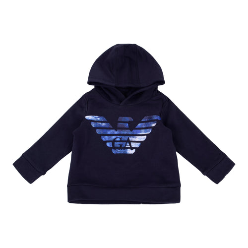 Navy Embroidered Eagle Hoodie