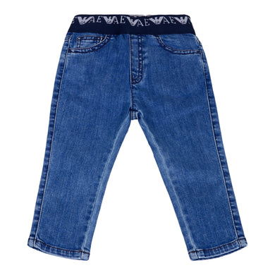 Denim Blue Pull Up Jeans