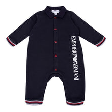 Load image into Gallery viewer, Navy Logo Babysuit