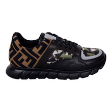 Load image into Gallery viewer, Black & Brown Reflective Trainers