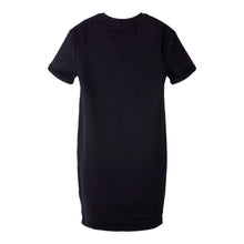 Load image into Gallery viewer, Black Glitter Tape Print Sweat Dress