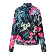 Load image into Gallery viewer, Pink Tropical Zip up Jacket