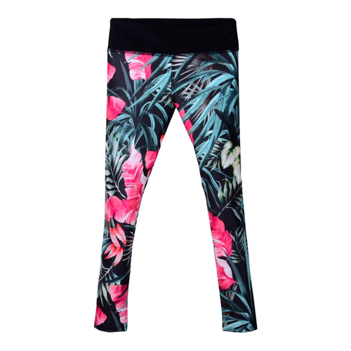 Pink Tropical Print Leggings