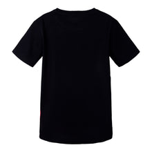 Load image into Gallery viewer, Black & Red Colour Block T-Shirt