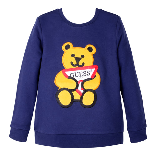 Blue Teddy Logo Sweat Top