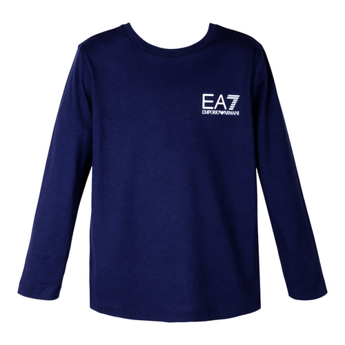Navy Crew Neck LS Top