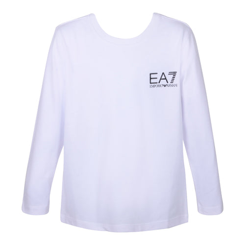 White Crew Neck LS Top