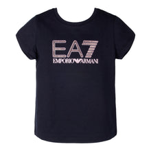 Load image into Gallery viewer, Girls Black EA7 T-Shirt