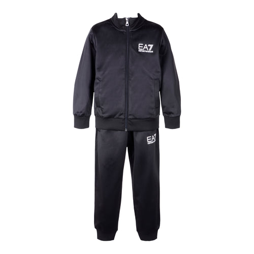 Black Nylon Sports Tracksuit