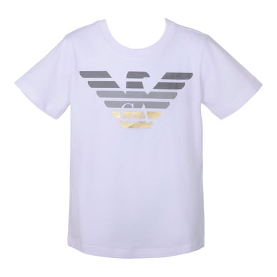 White Grey & Gold Eagle T-Shirt
